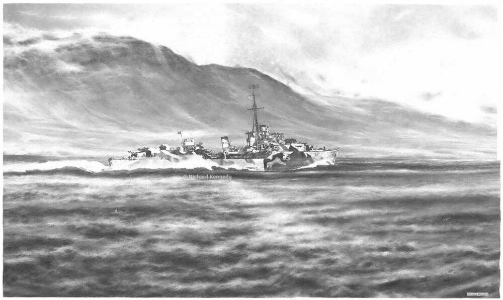 HMS Ashanti: Cold, cold, dark sea