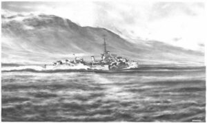 HMS Ashanti: Cold, cold, dark sea