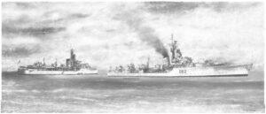 HMS Jutland and HMS Agincourt