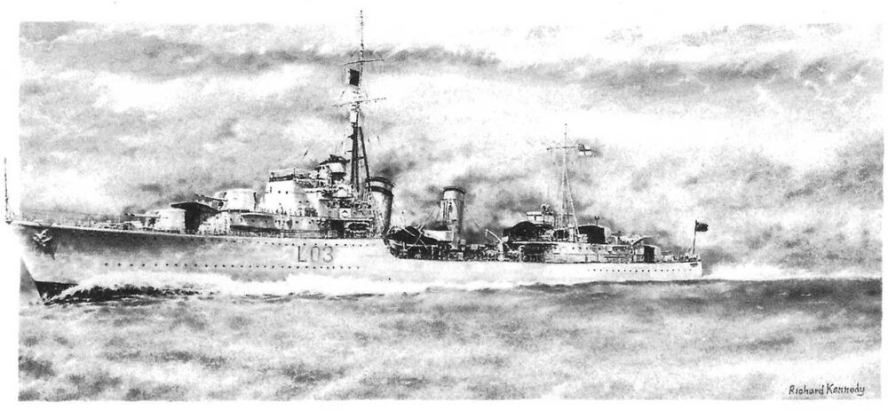 HMS Cossack: Storm Force - Royal Navy Print by Richard Kennedy