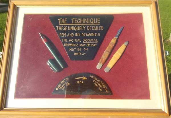 The artist's technique