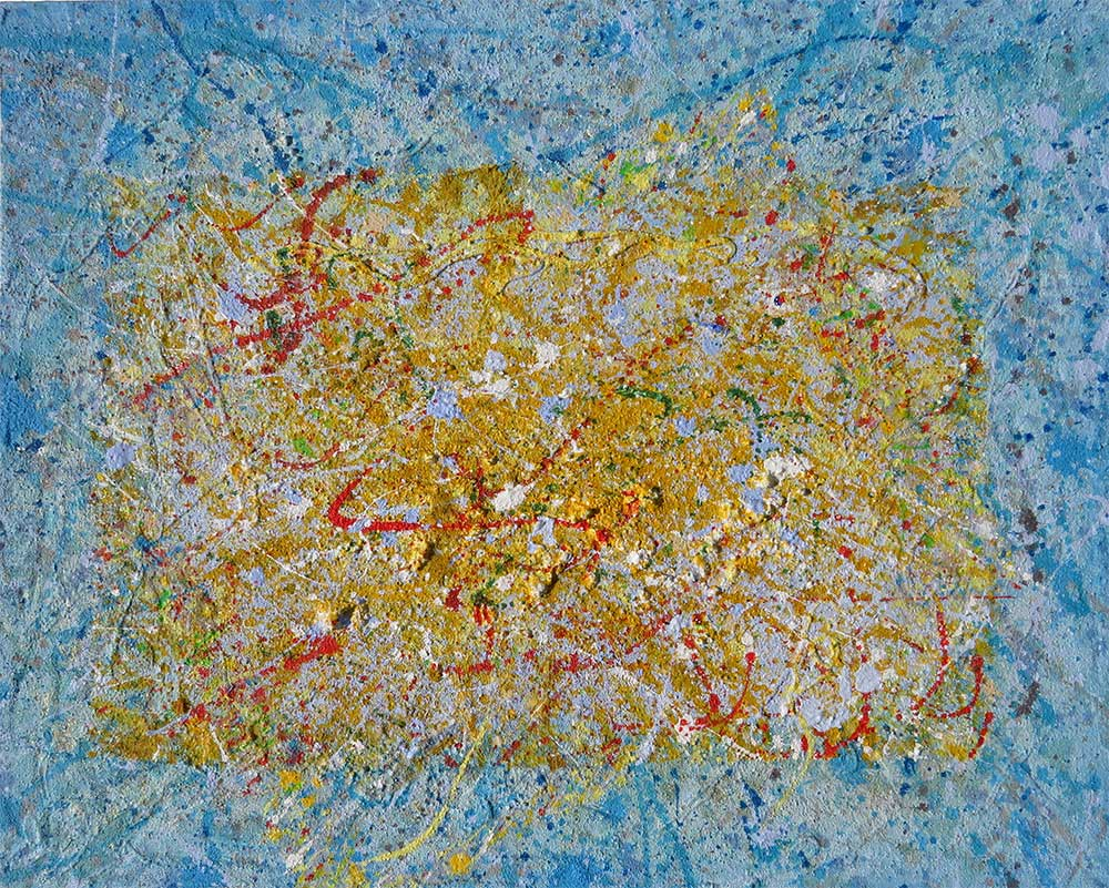 Willi: Original abstract painting by Richard Kennedy