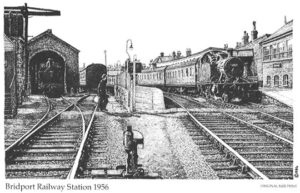 Bridport Railway Station 1956