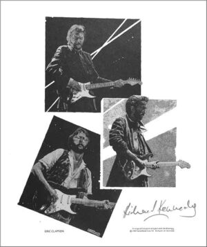 Eric Clapton: A Rock Act drawing by Richard Kennedy