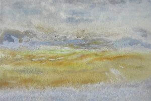 Jurassic Coast calm: Semi-Abstract painting by Richard Kennedy