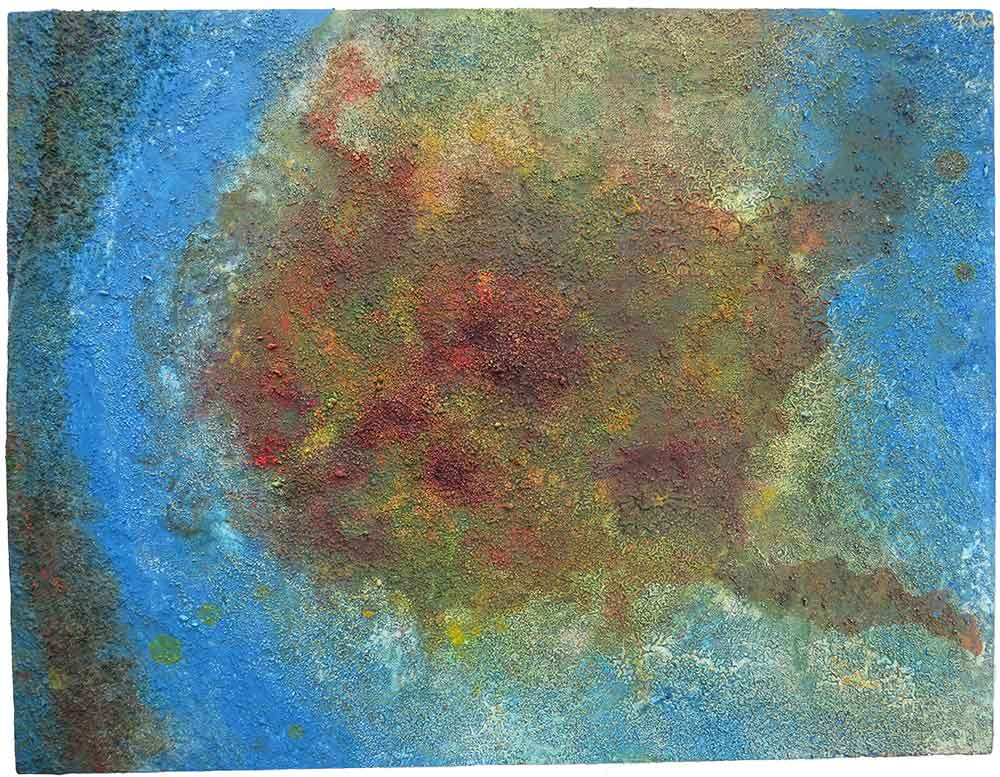 Balance: Raised acrylic painting on thick board using sand by Richard Kennedy